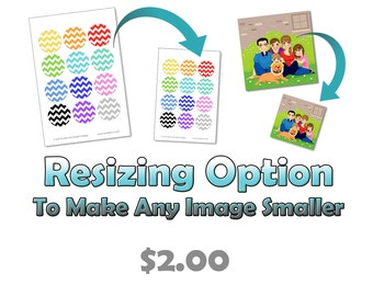 Cropping / Resizing Add-On Option - Purchase this along with the collage you want altered