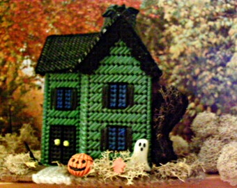 Haunted Halloween Miniature Victorian House On  Ghostap Lane