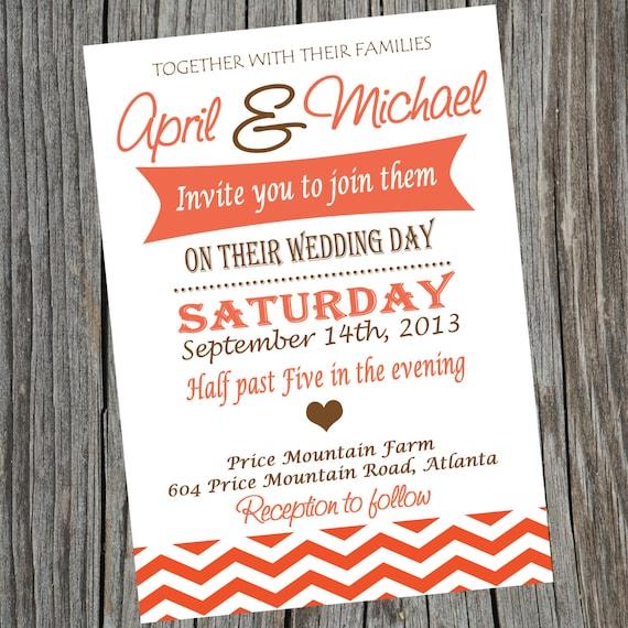 Simple Printable Wedding Invitation Wedding Ceremony