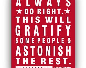 Mark Twain Quote, Giclee Art Print, Motivational Graduation Gift, wall art, poster