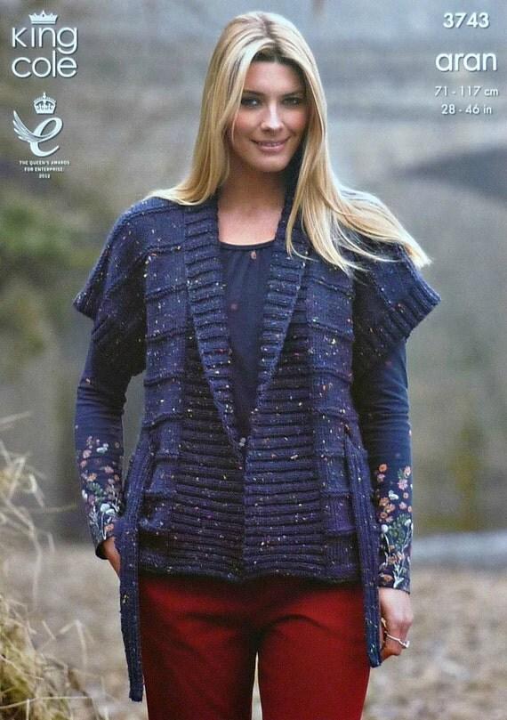 Womens Knitting Pattern K3743 Ladies/Childrens Belted