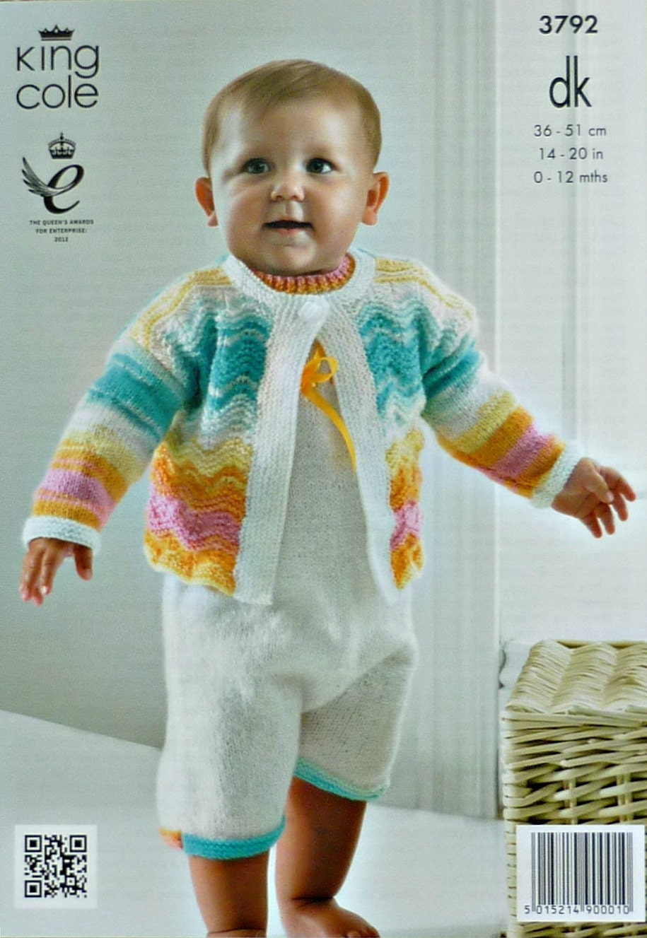 All In One Cardigan Knitting Pattern : Baby Knitting Pattern K3792 Babies All In One Romper Suit & Long Sleeve W...