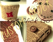 Custom Order for Lucky.  Heart Sipper Sweater