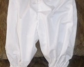 Special Sale Priced  -Girls Pantaloons  Bloomers White