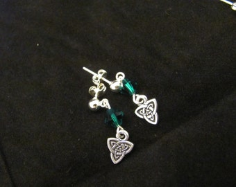 Celtic Triangle Knot Earrings
