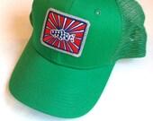 BadAxeDesign logo kelly green trucker cap