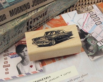 Vintage Classic 56 Chevy Car Rubber Stamp