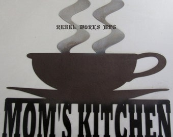 "Mom's Kitchen Coffee Cup.  15""x16"""