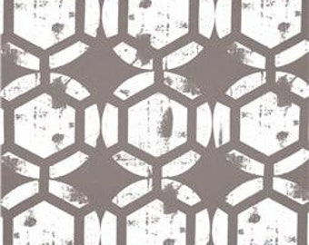 Two 20 x 20  Custom Designer Decorative Pillow Covers  - Honeycomb Pattern -  Grey