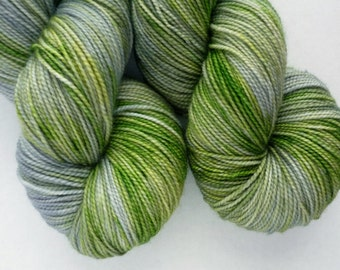 Hand Dyed Yarn - Merino / Cashmere / Nylon Sock Weight - Ausable Sock in Don't Blink Colorway