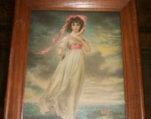 Vintage 1930's Young Woman Framed Print