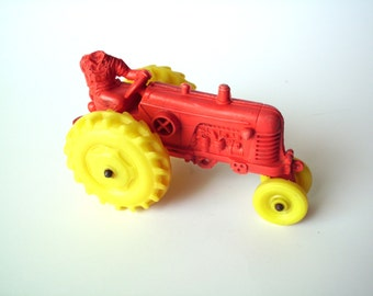 Vintage Toy Rubber Tractor