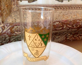 Antique Fraternity or Brotherhood Organization Glass from 1897