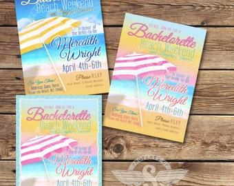 Beach Bachelorette Invitation