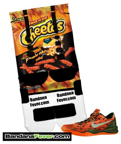 nike elite socks flamin hot cheetos by bandanafeverdesigns