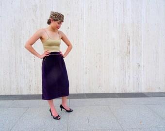 Vintage purple skirt velvet