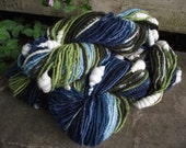 Earth and Sky Handspun coil art yarn Natural dyes