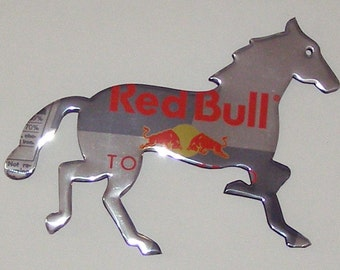 Horse - Mustang Magnet - Red Bull Energy Drink Soda Can