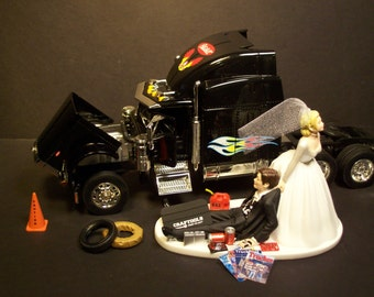 semi truck wedding cake toppers peterbilt etsy 19742