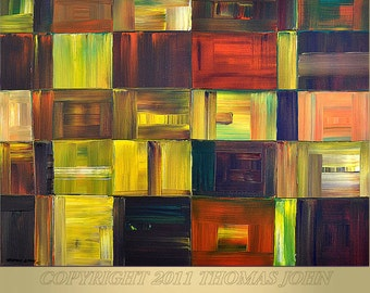 ABSTRACT ORIGINAL Painting Large 30x40 Impasto Handmade Art and collectibles By Thomas John