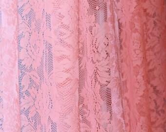 SALE NEON LACE Curtains Custom length
