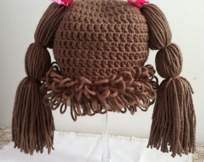 Cabbage Patch Hat, Girl Hat, Toddler Hat, Baby Hat