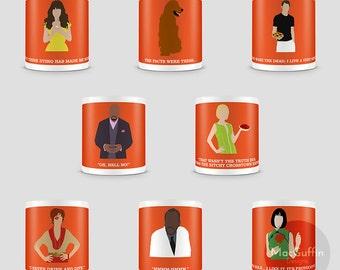 Pushing Daisies mug - Choose from 8 characters (Made to order)