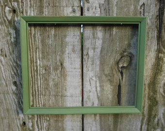 Grass Green Frame Rustic Shabby Chic Distressed Picture Photo Wedding Decoration Country Cottage Farmhouse Home Decor Gift for Her Him