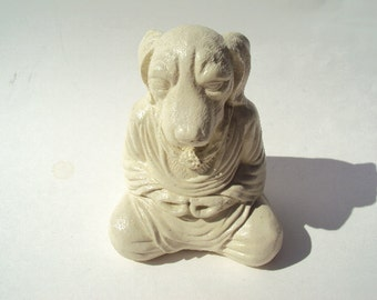 Meditating Dog, Beautiful Natural Cement Stone, Shipping Included