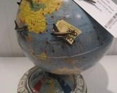repurposed magnetic air race globe game