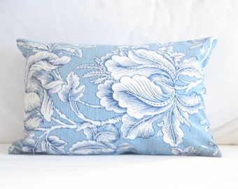chair pillows 12x18 inch lumbar pillows blue floral decorative