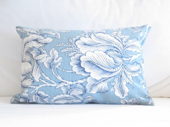 blue chair pillows 12x16 inch lumbar pillows blue floral decorative