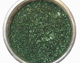 Mineral Eye Shadow MAJESTIC GREEN 3 or 5 Grams Dark Shimmering Green