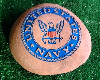 US Navy Engraved Stone