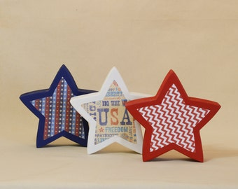 Large Patriotic Stars, Photo Props, Large Star Decorations, Foam Photo Props
