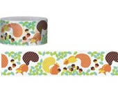 Washi Tape (15M x 25mm) Squirrel, brown, pinecone, 9320122