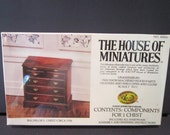 House of Miniatures  Bachelor's Chest  Colonial Home number 40054  1750 dollhouse furniture xacto craft kit furniture