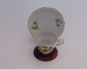 Vintage Demitasse Cup And Saucer Hostess Made in Japan Floral