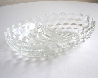 Vintage Vegetable Bowl - Two Part Serving Dish