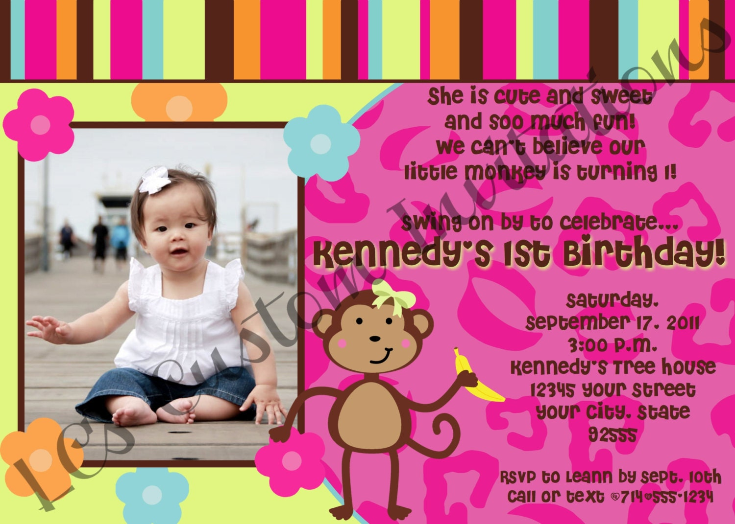 Monkey love party invitations - photo#19