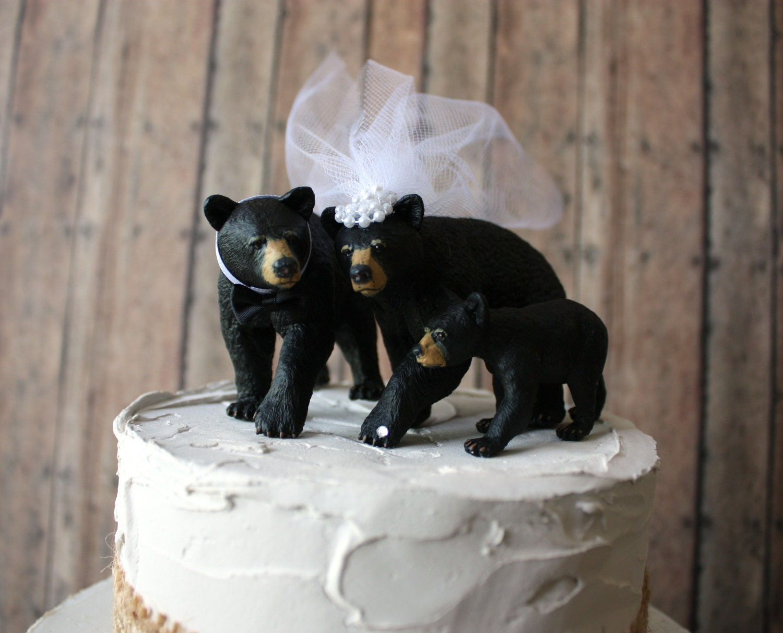 Family wedding cake topper bear family wedding cake