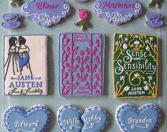 Sense & Sensibility -Jane Austen- themed cookies