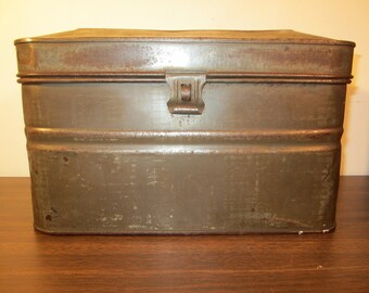 Antique Acme And Miners Lunch Box