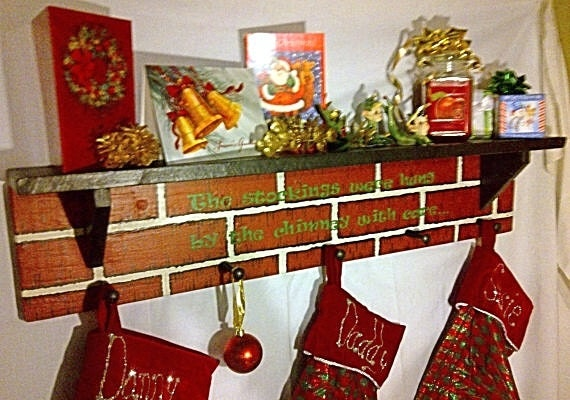 Fireplace Christmas Stocking Holders