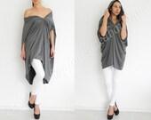 ENVY TOP Convertible draped asymmetric loose oversized jersey dress tunic multy way women fashion plus size maternity