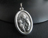 Italian Made Traditional Catholic Saint Anne Medal