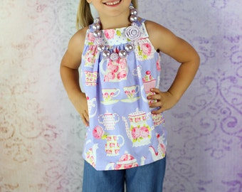 Allegra's All-Purpose Pinafore Top PDF Pattern Sizes 6/12 months to size 8