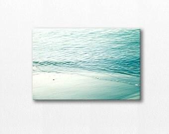 coastal canvas art beach photography canvas print canvas 12x18 24x36 fine art photography ocean nautical decor canvas wrap aqua canvas print