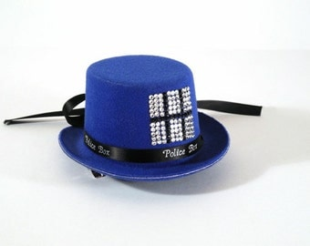 Tardis Hat with Swarovski Crystals CONTACT for purchase