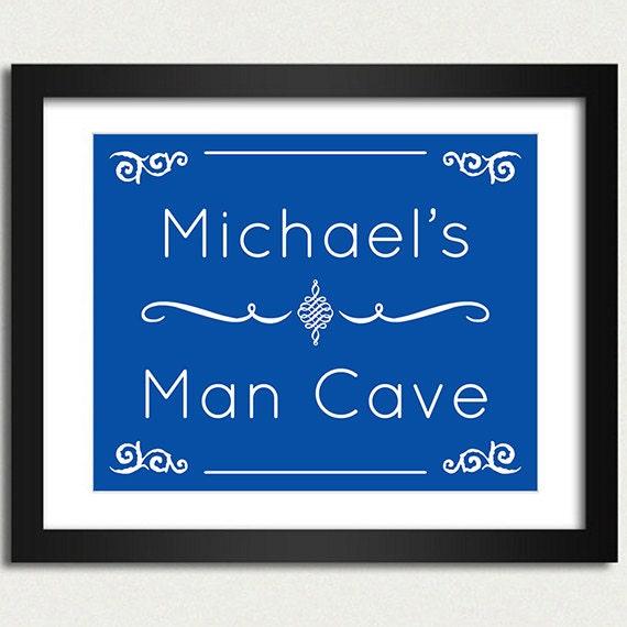 Man Cave Door Signs : Man cave poster door sign choose font color mens gift